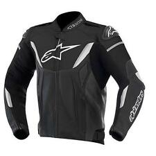 GIACCA ALPINESTARS GP R LEATHER JACKET NERO BIANCO 2015 TG 54