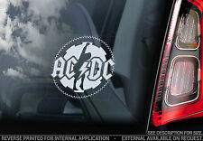 AC/DC - Car Window Sticker - Rock Sign AC DC Angus Young Back in Black ACDC -V07
