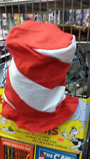 """Felt Red & White Peppermint Swirl Stovepipe Hat 12"""" tall Dress Up Fun  Hat Day"""
