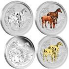 2014 $1 Year of the Horse Typeset 4 Coin Collection Set