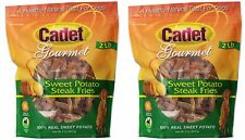 Cadet Gourmet Sweet Potato Steak Fries 4lb Bag Chews Natural Dog Treats #01387x2