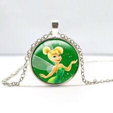 Tinkerbell Pendant necklace Glass necklace Children's Christmas gift   DD+   415