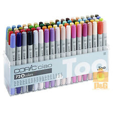 NEW TOO COPIC Ciao Set B 72 color 72B PEN SET Artists Marker Manga Made in JAPAN