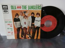 "ola and the janglers""that's when""""ep7""or.fr.lvdsm/emi:egf:924.biem rare 1967"