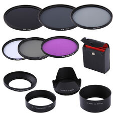 77mm UV CPL FLD ND2 ND4 ND8 Filter Kit + Lens Hood For Canon EF 24-105mm 17-55mm