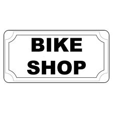 Bike Shop Black Retro Vintage Style Metal Sign - 8 In X 12 In With Holes