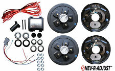 Add Brakes to Your Trailer Complete Kit 3500 Axle 5 x 4.5 Electric Never Adjust
