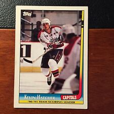 91-92 Topps Kevin Hatcher Card-Washington Capitals Single Card