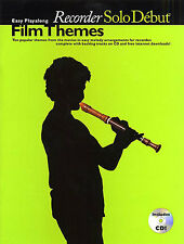 Solo Debut Film Themes Easy Playalong Recorder Learn to Play Sheet Music Book