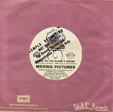 MOVING PICTURES Back To The Blues & Booze / Sisters Of Mercy 45 - Promo