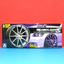 Aoshima 1/24 19 inch SSR [Executor CV01] wheel & tire model kit #009178