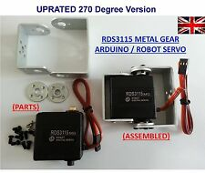 RDS3115 RDS3115MG Robot servo Arduino 270 Degree 15kg/cm RC slope pan tilt UK