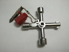 1PC Universal Cross KEY Triangle KEY for Train Electrical Elevator Cabinet Valve
