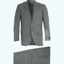 CORNELIANI Grey Wool Cashmere Tweed Suit IT50 UK/US40