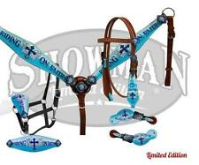 "Showman LIMITED EDITION  4 piece ""Running on Faith"" tack set! NEW HORSE TACK!"