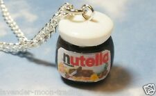 "FIMO NUTELLA CHOCOLATE JAR PENDANT/NECKLACE with silver plated 18"" CHAIN/GIFT"