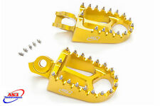 SUZUKI RMZ 450 2008-2009 08 09 CNC AS3 RACING FAT FOOT PEGS YELLOW