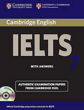Cambridge IELTS 7 Book & 2 Audio CD Set ESOL Examination Papers with Answers NEW
