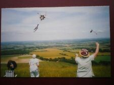 POSTCARD B7 SUSSEX KITE GLYING ON THE DOWNS