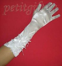 Satin Evening Gloves / Wedding Bridal Party ~ White