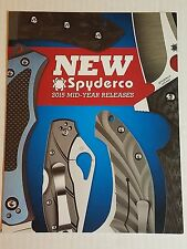 Spyderco Product Catalog Booklet 2015 Mid-Year Releases 14 pages Knives