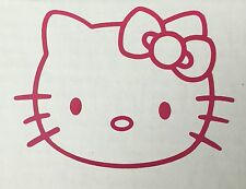 Hello Kitty Decal, Vehicle Decal, Wall Decal, Sticker, Novelty, Pink