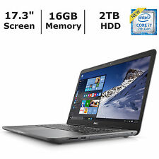 "Brand NEW Dell Inspiron 17.3"" i7 7500U Laptop i5767-6370GRY 16GB 2TB Notebook"