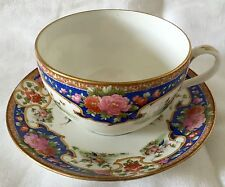 LOVELY LARGE SHELLEY CUP SAUCER OLD SEVRES 10678 BIRDS, BLUE, PINK