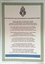 SRR Special Reconnaissance Regiment Poem Special Forces British Army Military