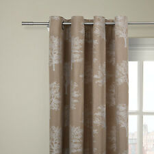 """JOHN LEWIS  Oakley Trees Eyelet Top Lined Curtains - WHITE - 66x54""""/164cmx136cm"""