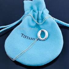 Tiffany & Co. Sterling Silver 925 Peretti Small Sevillana O Pendant Necklace