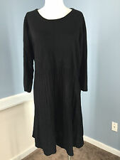 Calvin Klein Black Sweater dress 1X 16 Excellent Career Casual Stretch