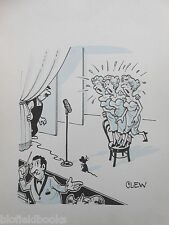 "CLIFFORD C LEWIS ""CLEW"" Original Pen & Ink Cartoon - Mouse, Scared Singers #108"