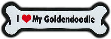 Dog Bone Magnet: I LOVE MY GOLDENDOODLE | Dogs Doggy Puppy | GOLDEN DOODLE