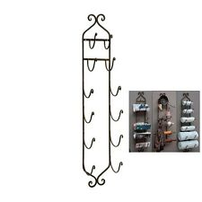 "TUSCAN Bath Towel Rack Bathroom Wall Mount Wine Holder Iron 41"" 6 Tier Rustic"