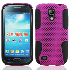 For Samsung Galaxy S4 MINI MESH Hybrid Silicone Rubber Skin Case Phone Cover
