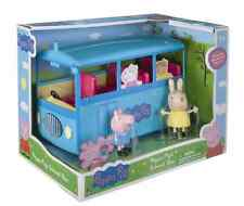 Peppa Pig Miss Rabbit 5-Seat School Bus Toy Playset Removable Roof, Plays Music