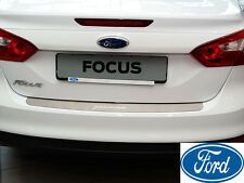 FORD FOCUS III 4D 2010- Rear Bumper Protector Stainless Steel Scuff Sill Plate