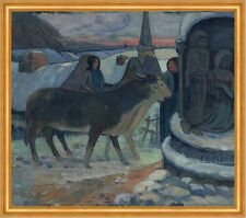 Christmas Night The Blessing of the Oxen Paul Gauguin St. Weihnachten B A1 03011