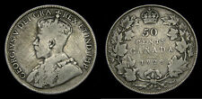 1929 Canada 50 Fifty Cent Piece George V VG-10