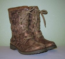 WOMENS SHOES BRONZE BROWN ROXY SWEATER BOOTS BOOTIES NEW US 6.5 EUR 36.5 37 37.5