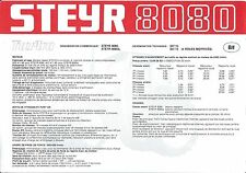 Farm Tractor Brochure - Steyr - 8080 - c1983 - FRENCH language (F4594)