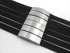 wholesale lots 12pcs simple band black silicone stainless steel bracelets