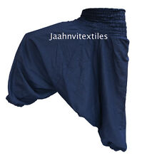INDIAN BAGGY GYPSY HAREM PANTS YOGA MEN WOMEN STYLISH ONE COLORED TROUSER kfhh