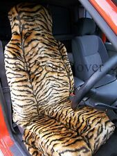 i - TO FIT A PEUGEOT 106 CAR, SEAT COVERS, GOLD TIGER FAUX FUR FULL SET