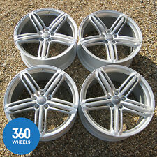"GENUINE AUDI 20"" RS6 C6 5 SEGMENT SPOKE A6 ALLOY WHEELS SILVER RIMS 4F0601025"