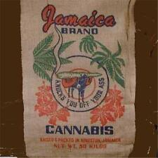 JAMICAN POT LEAF MARIJUANA  BURLAP BAG confederate pot leaf hippie sack