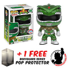 FUNKO POP POWER RANGERS GREEN RANGER METALLIC NYCC 2016 + FREE POP PROTECTOR