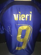 Signed Retro Italy Shirt By Christian Vieri