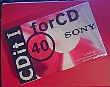 SONY CDit-I 40 BLANK CASSETTE TAPE one piece (NEW-SEALED) C-40CDIT1B